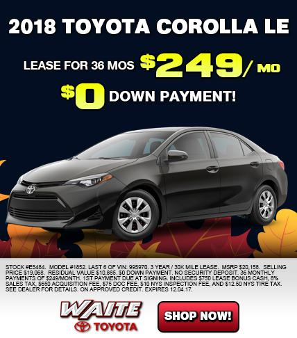Shop 2018 Toyota Corolla LE in Watertown NY