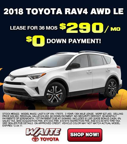 Shop 2018 Toyota RAV4 AWD LE in Watertown NY
