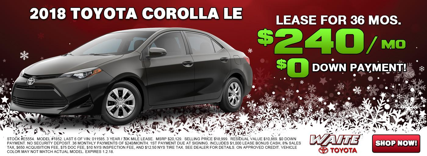 Shop 2018 Toyota Corolla in Watertown NY