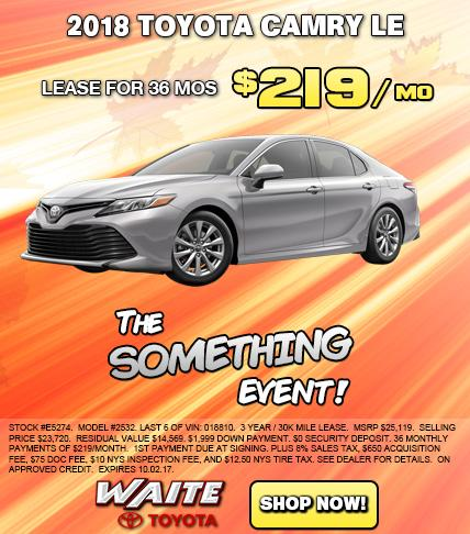 Shop 2018 Toyota Camry LE in Watertown, NY