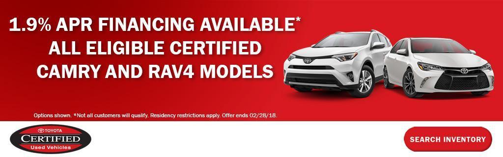 Toyota Certified Specials