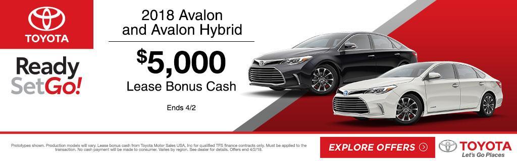 2018 Toyota Avalon Lease Bonus Cash