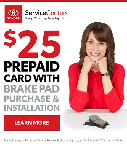 Toyota Brake Pads Special