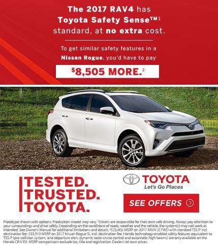2017 Toyota RAV4 has Toyota Safety Sense