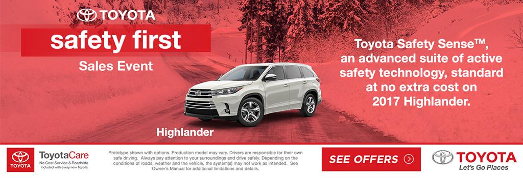 Toyota Highlander Sales Event