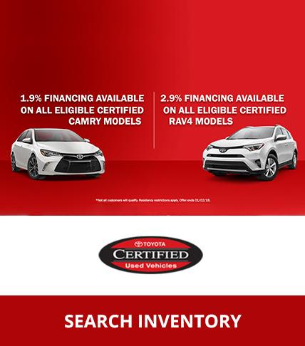 Toyota CPO Financing Specials