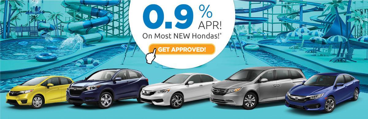 0.9% APR On Most New Hondas