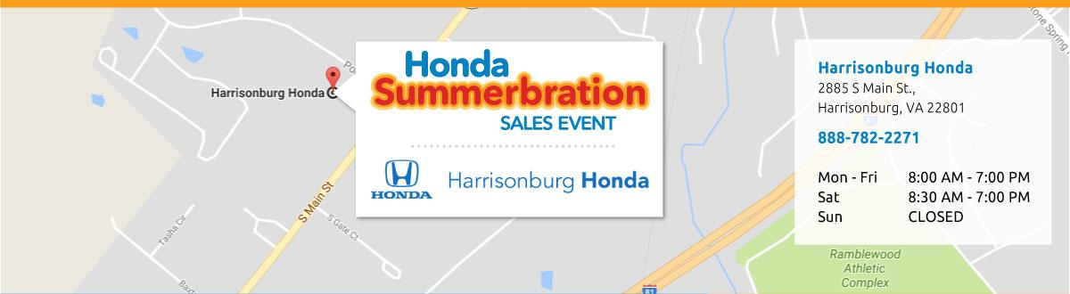 Harrisonburg Honda Map