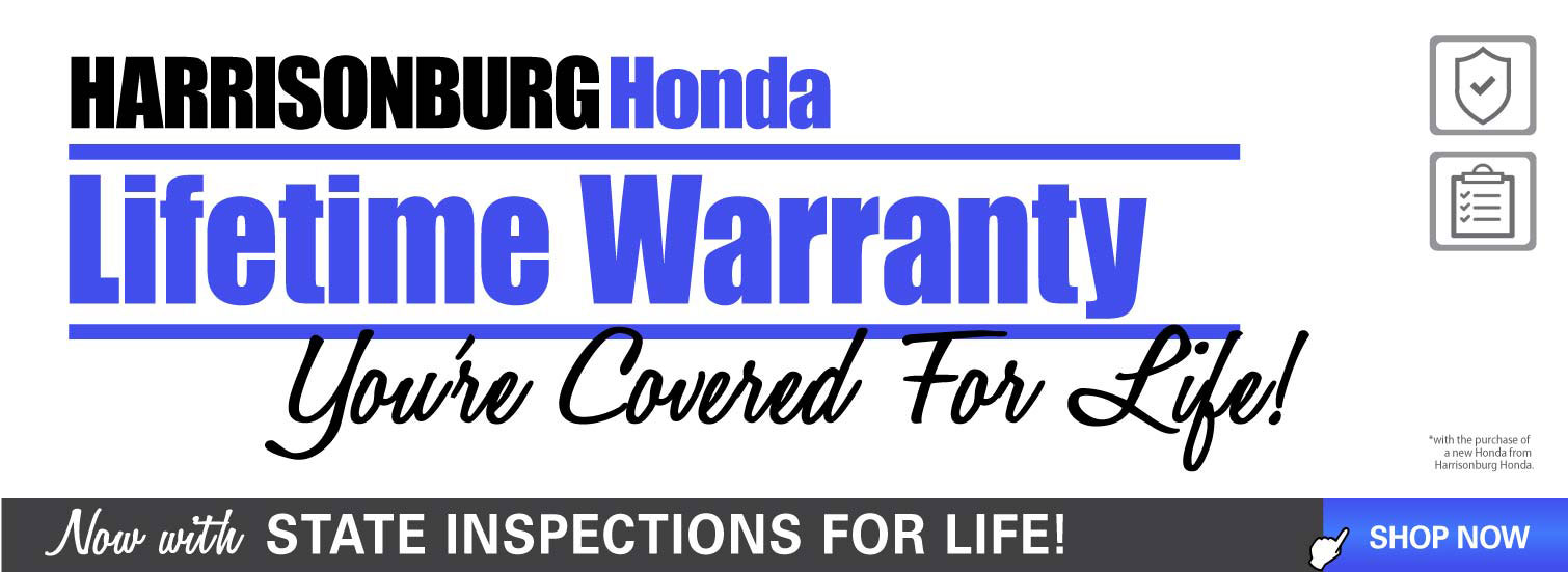 Lifetime Warranty - Harrisonburg Honda