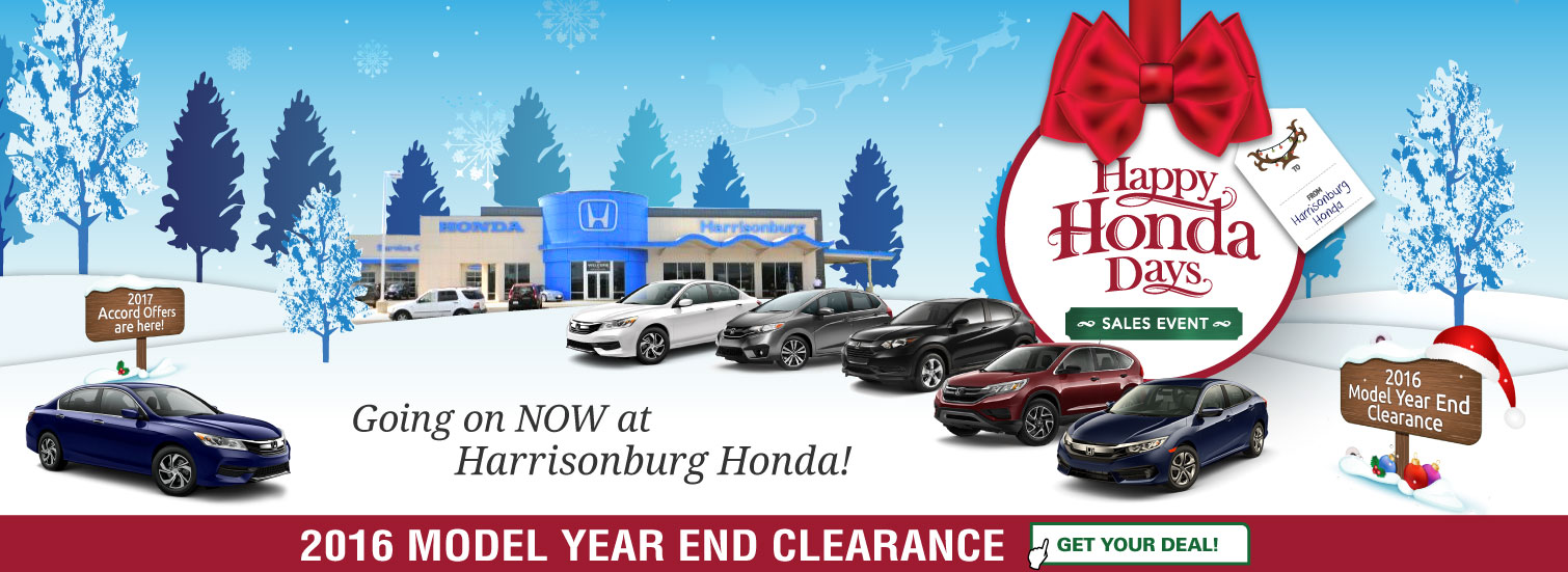 It's Happy Honda Days at Harrisonburg Honda