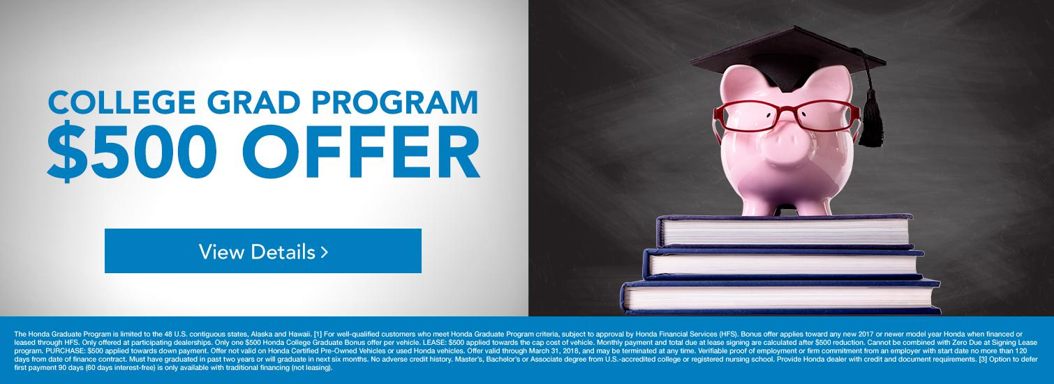 Honda College Grad Offer