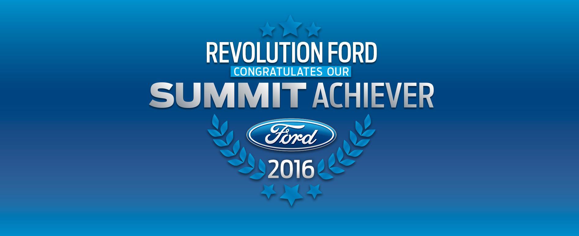 Revolution Ford Summit Achiever 2016