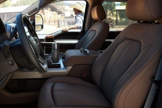 2017 Ford F-350 King Ranch Interior Seating