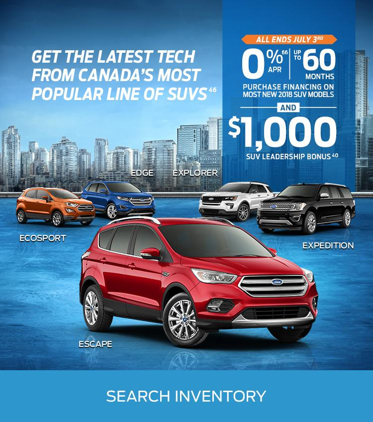 June 2018 0% Financing Watkin Motors Ford