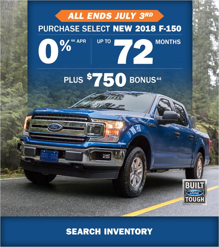 June 2018 0% Financing Ford F-150 Watkin Motors