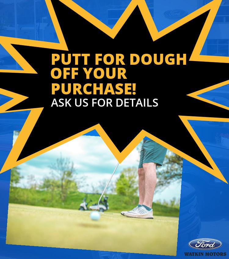 Putt for Dough Contest Watkin Motors Vernon