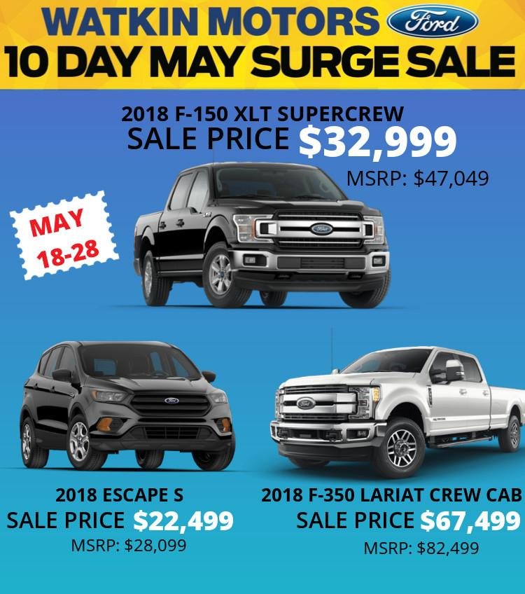 New and Truck Sale at Watkin Motors in Vernon BC