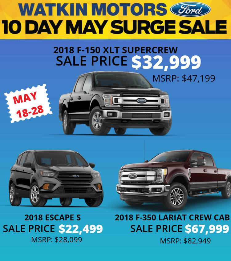 New Car and Truck Sale at Watkin Motors Ford in Vernon BC