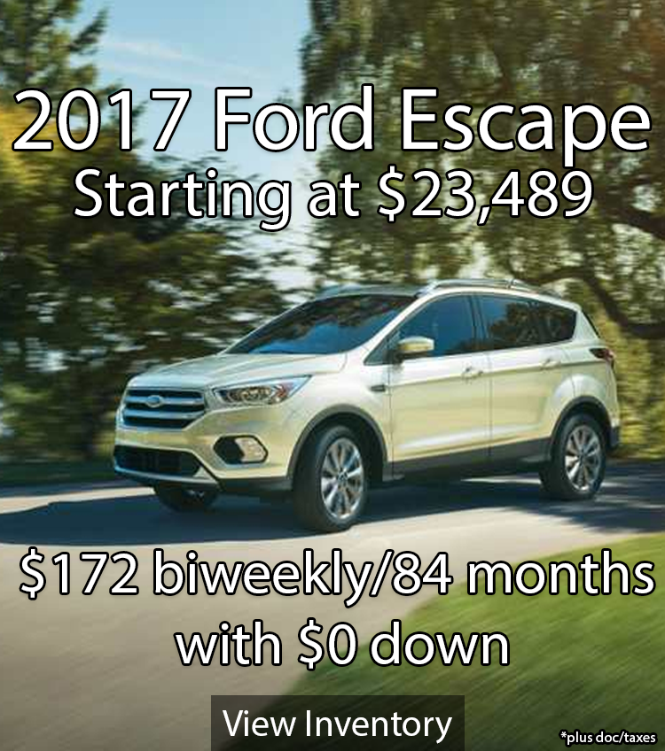 2017 Ford Escape Invntory