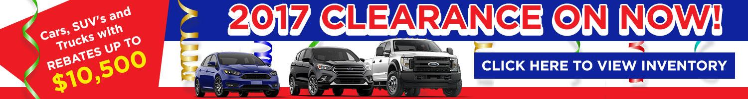 2017 Clearance on Now at Watkin Motors