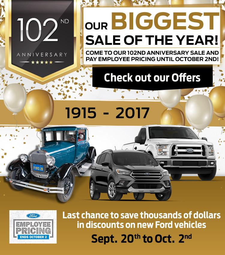 102nd Anniversary Sale at Watkin Motors