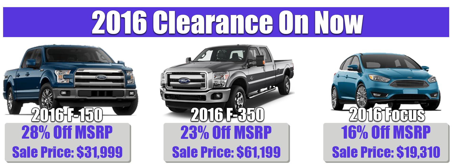 2016 Model Clearance
