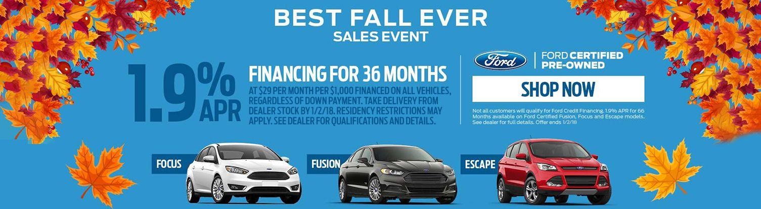 Best Fall Ever Certified Sales Event