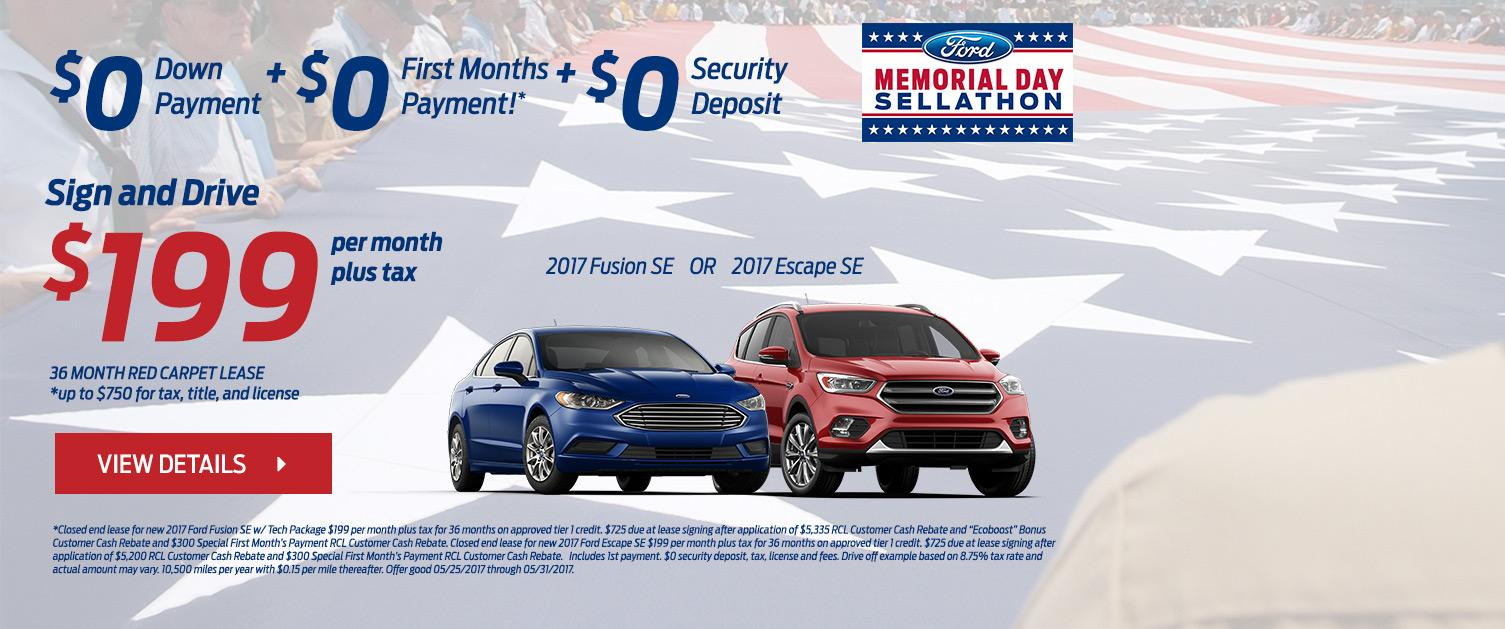$199 Sign and Drive Memorial Day Sellathon