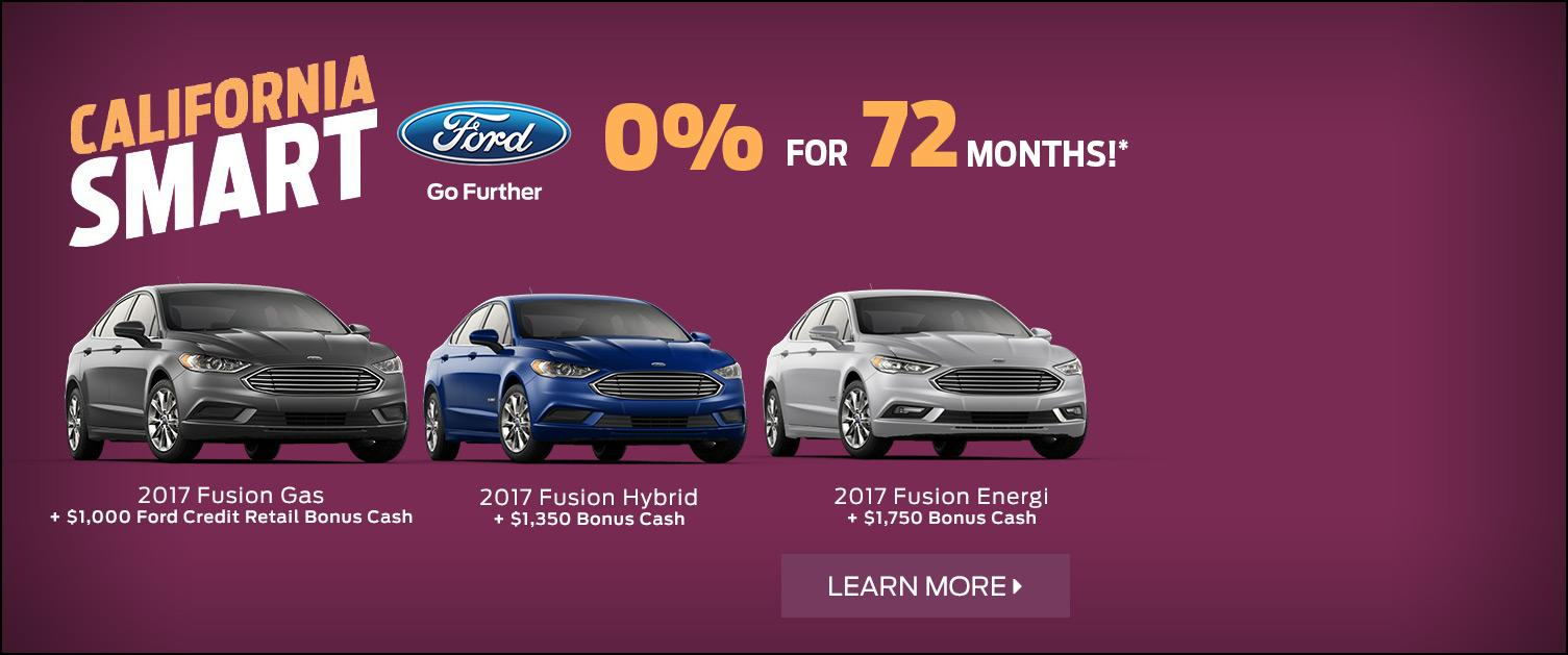0 for 72 2017 Ford Fusions