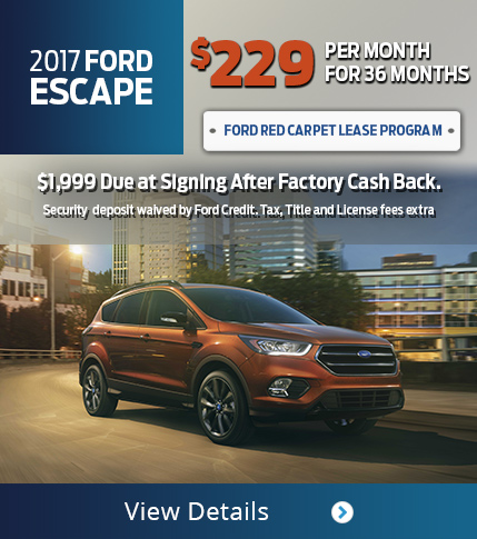 Lease 2017 Ford Escape for $229