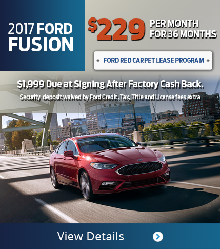 Lease 2017 Ford Fusion for $229