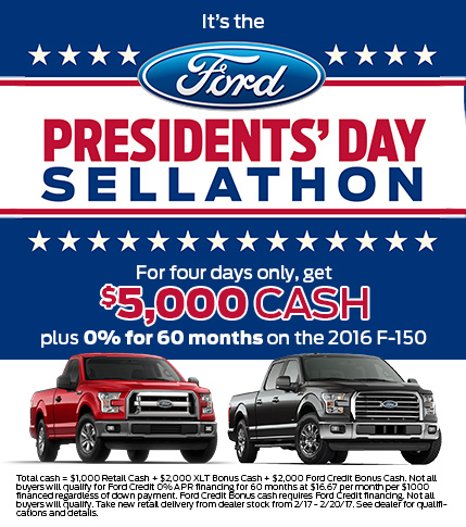 2017 President's Day Sale