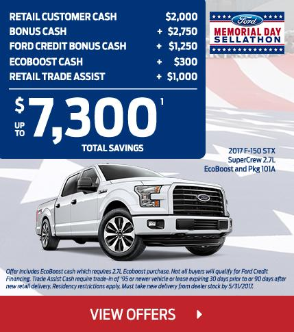 $7300 F-150 STX Total Savings this Memorial Day