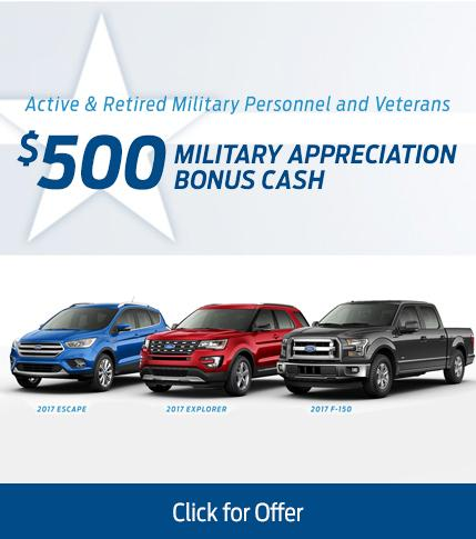 $500 Military Appreciation Bonus Cash