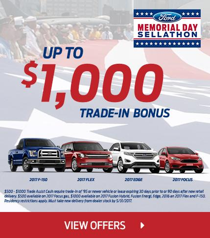 Up to $1,000 Trade Bonus this Memorial Day