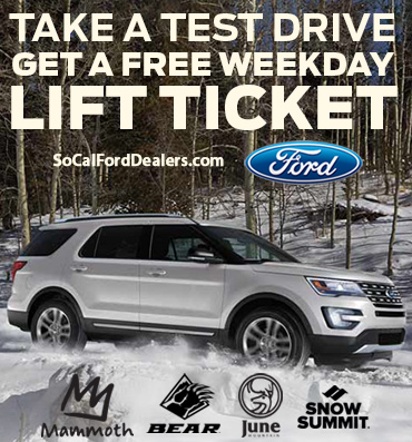 Test Drive for a Free Lift Ticket to Mammoth