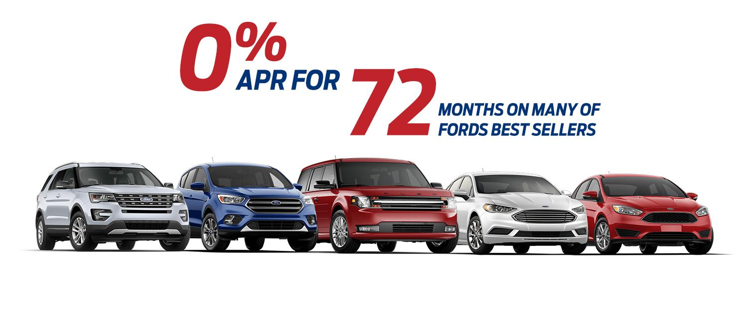 0% for 72 2017 Ford Fusions