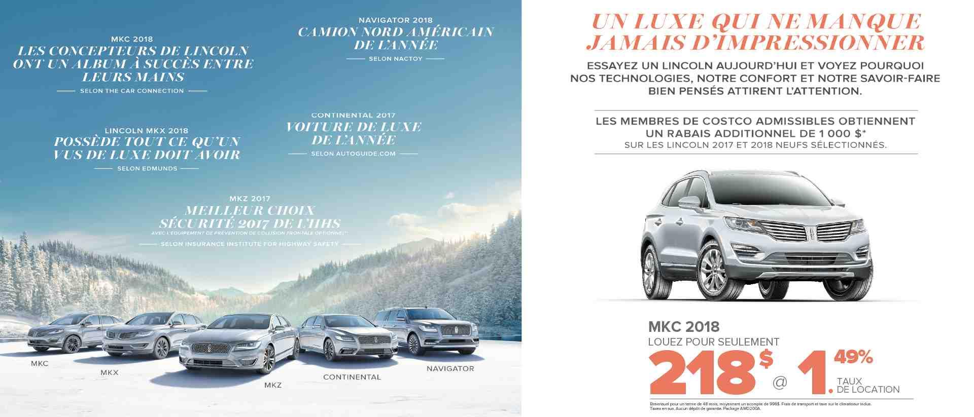 Lincoln MKC en promotion