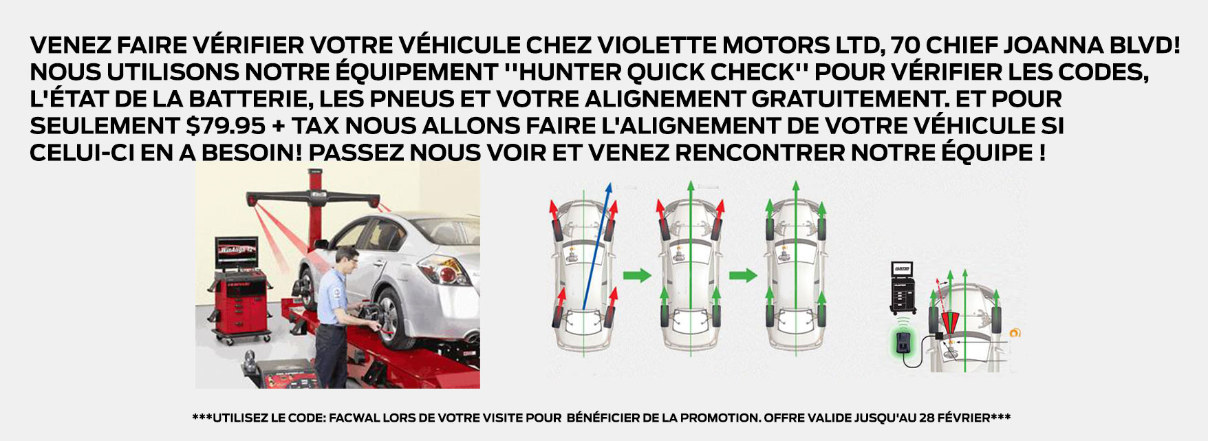 Promotions Février Service Violette Motors