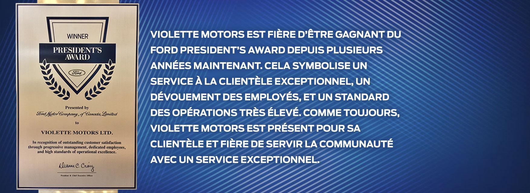 Violette Motors service client