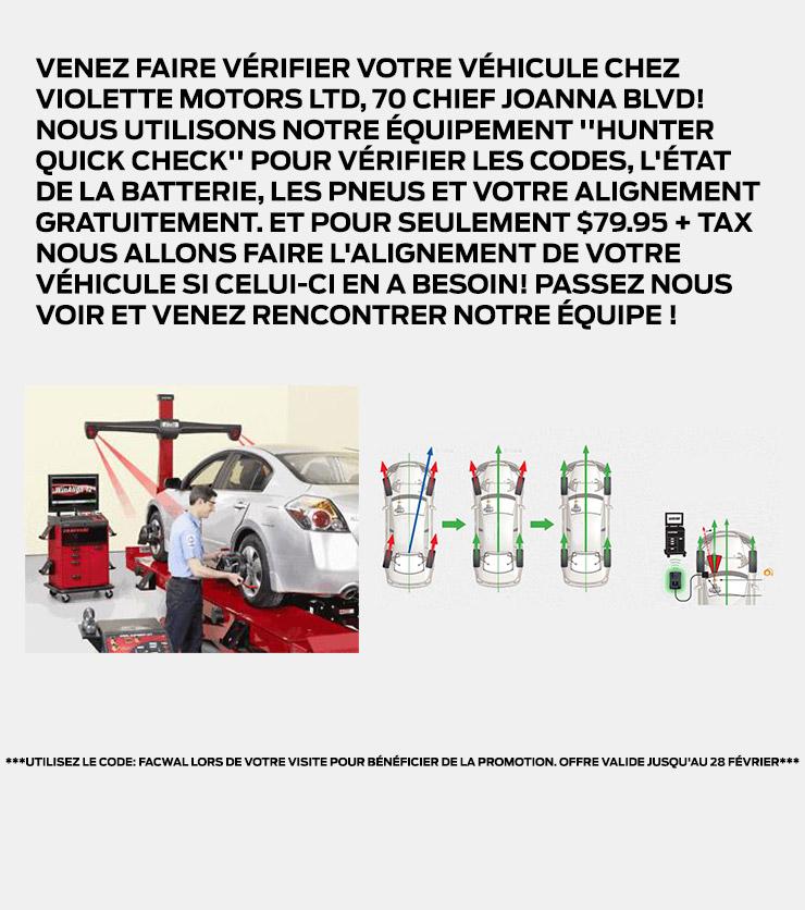 Promotions Service Février Violette Motors