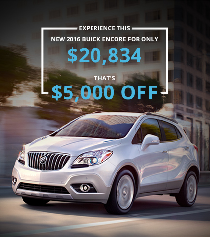 $5,000 OFF a 2016 Buick Encore