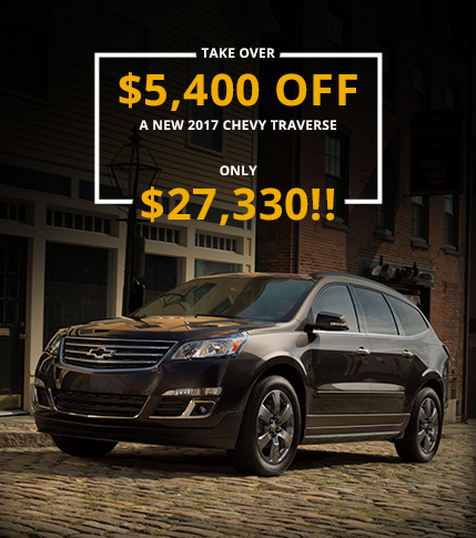 $5,400 OFF a 2017 Chevy Traverse