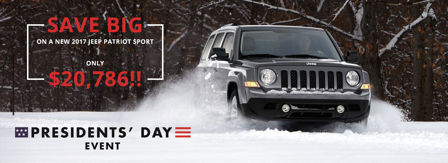 2017 Jeep Patriot Sport - ONLY $20,786