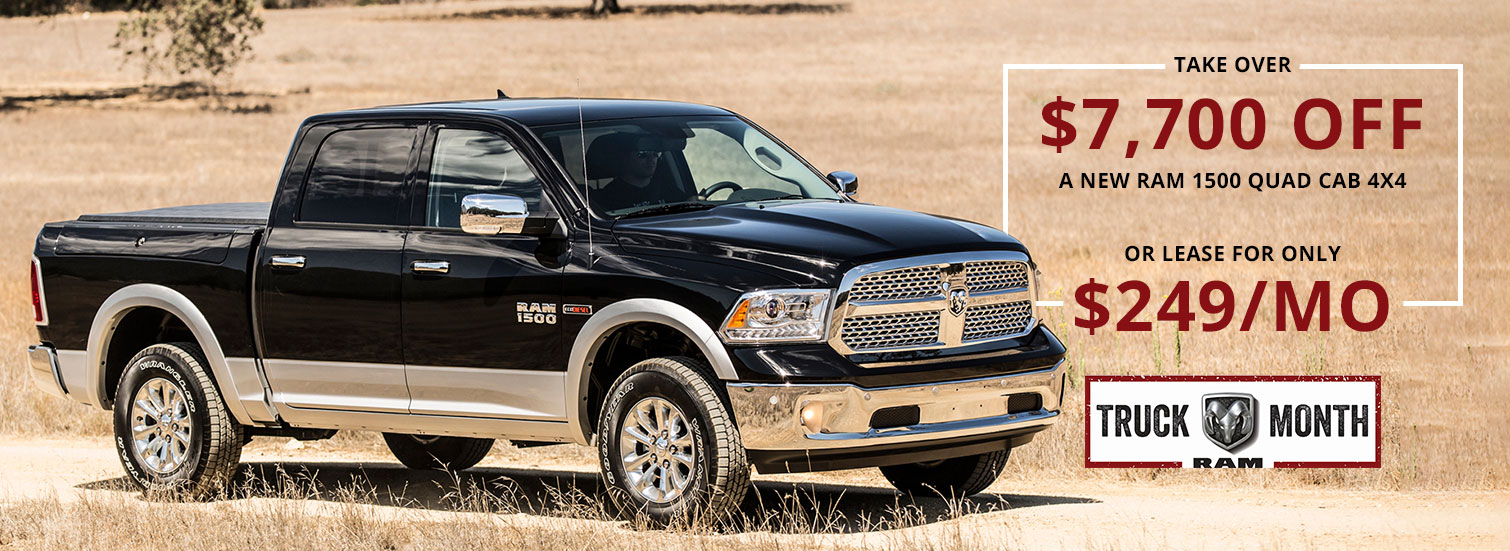 $7,700 OFF a New Ram or Lease for $249/mo.