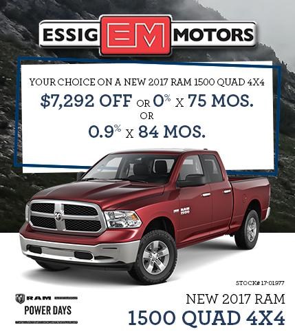 2017 Dodge Ram Offer