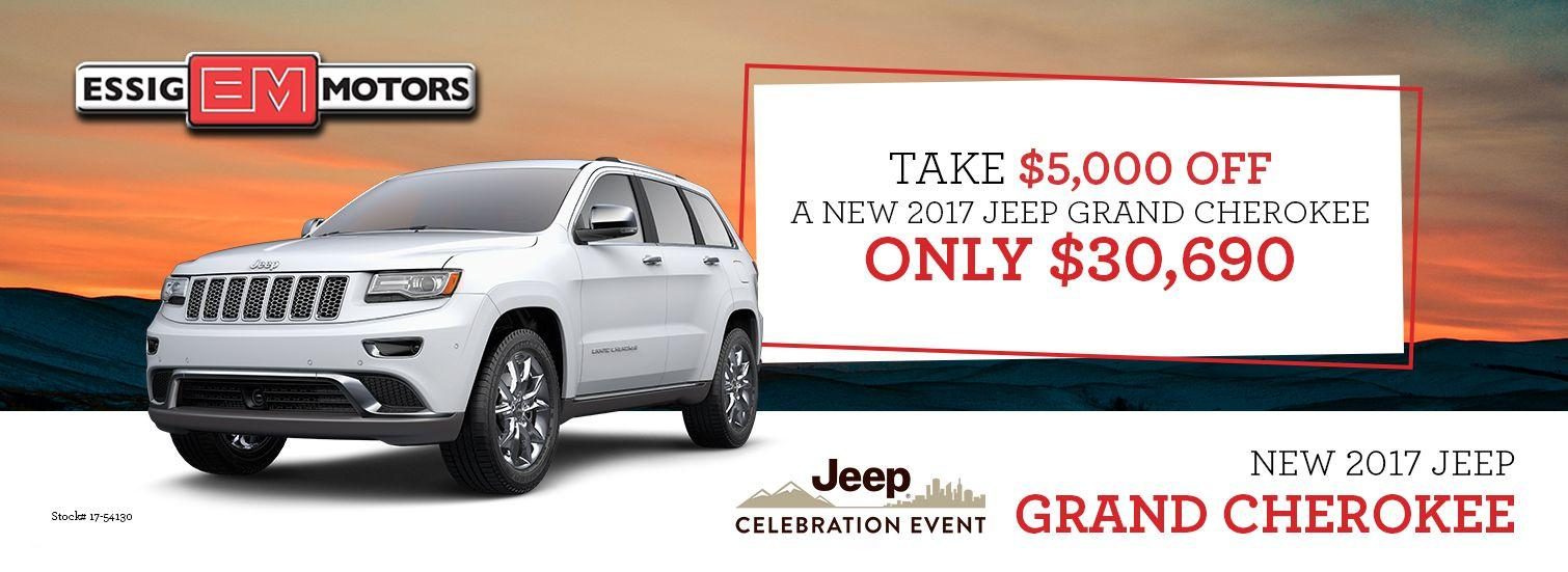 2017 Jeep Grand Cherokee Offer