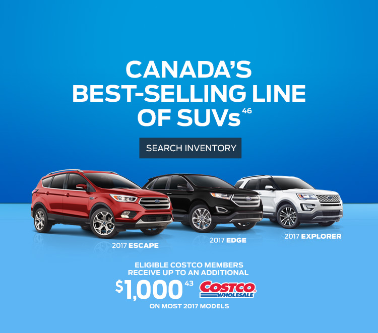 SUV deals at Coastal Ford Vancouver