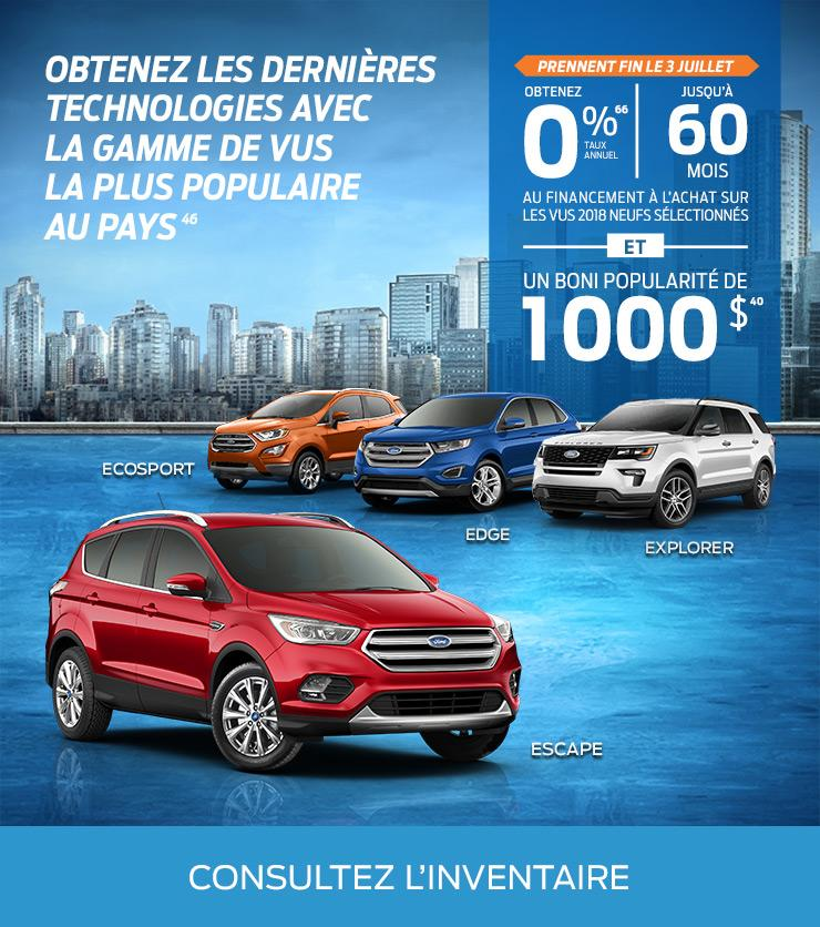Escape, EcoSport, Edge, Explorer
