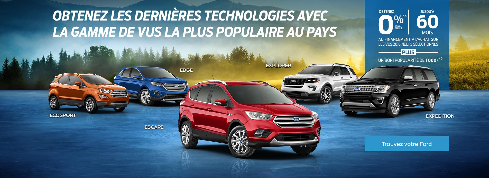 Escape, Explorer, Expedition, Edge, EcoSport